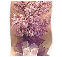 Lilacs with ribbon Poster