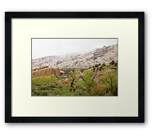 Rain in the Canyon Framed Print
