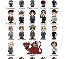 A Field Guide to the Common Cumberbatch (print/poster/card) by redscharlach