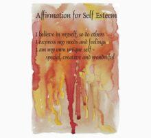 Affirmation for SELF-ESTEEM Kids Clothes