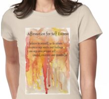 Affirmation for SELF-ESTEEM Womens Fitted T-Shirt
