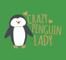 Crazy Penguin Lady  Kids Tee