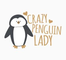 Crazy Penguin Lady  One Piece - Long Sleeve