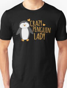 Crazy Penguin Lady  Unisex T-Shirt