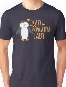 Crazy Penguin Lady  Unisex T-Shirt