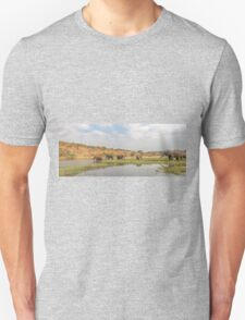Elephants crossing the Chobe River Unisex T-Shirt