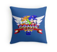 SONIC 2 TITLE SCREEN Throw Pillow