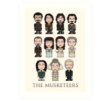 The Musketeers cast (print or card) Art Print