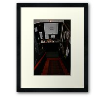 Above: theatre and more art. Below: Art on tap. Framed Print