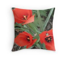 Paper Cut Tulips Throw Pillow