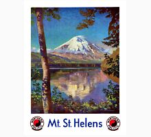Mount Saint Helens Vintage Travel Poster Restored Unisex T-Shirt