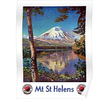 Mount Saint Helens Vintage Travel Poster Restored Poster