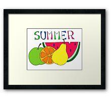 Summer Fruits Framed Print