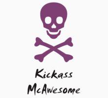 Kickass McAwesome skull by Hannah Fenton-Williams