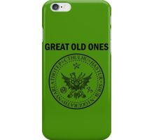 Seal of the Great Old Ones - Black iPhone Case/Skin