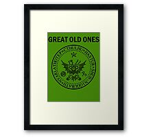 Seal of the Great Old Ones - Black Framed Print