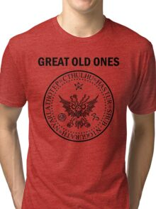 Seal of the Great Old Ones - Black Tri-blend T-Shirt