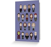 New Who Doctors and Companions (poster/card/notebook) Greeting Card