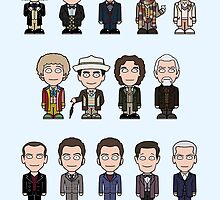 The Fourteen Doctors (card/notebook) by redscharlach