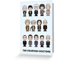 The Fourteen Doctors (card/notebook) Greeting Card