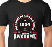 God writes my name in his book 1954 Unisex T-Shirt