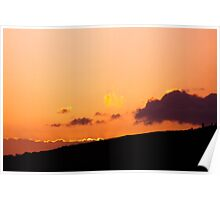 Peaceful sunset in Hawaii Poster