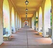 Arches at Balboa Park by Jennifer Hulbert-Hortman
