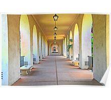 Arches at Balboa Park Poster