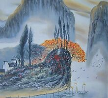 Chinese landscape painting by diasha