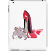 Red Stiletto Shoe and Lilies iPad Case/Skin