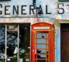 Old Stores and Red Telephone Box Sticker