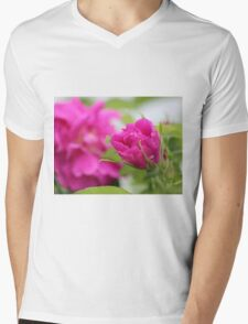 """""""Let the beauty and fragrance of a rose touch your soul."""" Mens V-Neck T-Shirt"""