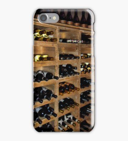 ASSORTED BOTTLES OF WINE IN STACKABLE WOODEN WINE RACK iPhone Case/Skin