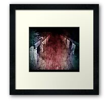 bridges we cross Framed Print