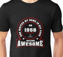 God writes my name in his book 1958 Unisex T-Shirt