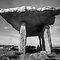 Poulnabrone Dolmen in Black and White by John Quinn