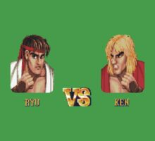 RYU VS KEN - FIGHT! One Piece - Short Sleeve