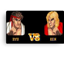 RYU VS KEN - FIGHT! Canvas Print