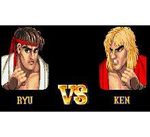 RYU VS KEN - FIGHT! Photographic Print