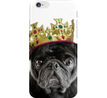 King Humphrey the Pug iPhone Case/Skin