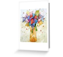 The yellow vase Greeting Card