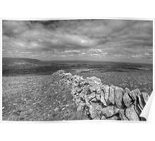 Scenic Burren landscape Poster