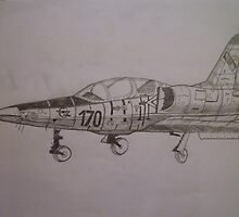 fighter jet by patstar