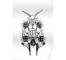 Goatlord Vengeance Death Metal Icon Poster