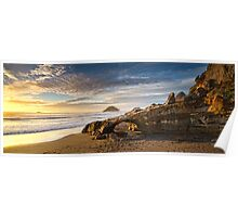 Back Beach Panorama Poster