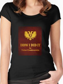 """Young Frankenstein """"How I did it"""" Book Women's Fitted Scoop T-Shirt"""