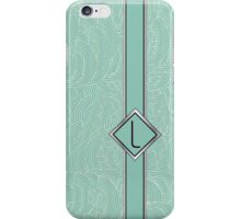 1920s Blue Deco Swing with Monogram letter L iPhone Case/Skin