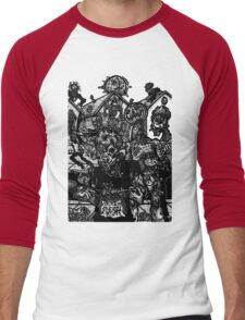 ZOMBIE HALLOWEEN Men's Baseball ¾ T-Shirt