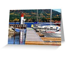 Fall lighthouse Greeting Card