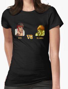 RYU VS BLANKA - FIGHT! Womens Fitted T-Shirt